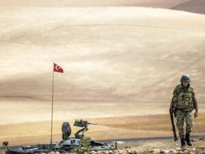 A Turkish soldier patrols the volatile border with Syria. (AFP/File)