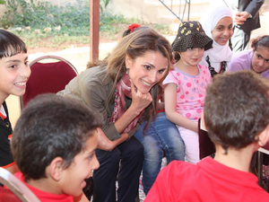 Queen Rania stressed that patience is essential in every field except in education, due to the fast pace of advancements with which Jordan must keep up. (Instagram/Queen Rania Al Abdullah)