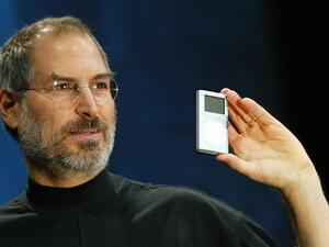 Steve Jobs with the iPod in 2004. (AFP/File)