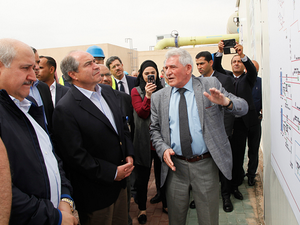 The water desalination plant was inaugurated on 18 March 2017 by Jordan's Prime Minister Hani Mulki. (Jordan News Agency/ Petra)