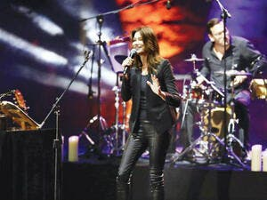 Carla Bruni performs at the Beiteddine International Art Festival on Monday. (Source: AFP)