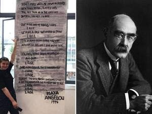 Students Paint Over Rudyard Kipling's Poem 'if' Claiming The Jungle Book Author Was Racist (Twitter)