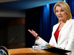 State Department spokesperson Heather Nauert  said over 117,000 people are believed to have been detained or forcibly disappeared in Syria since the conflict began in 2011. (Twitter)