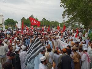 Protest against rigged election in front of election commission of Pakistan (Twitter)