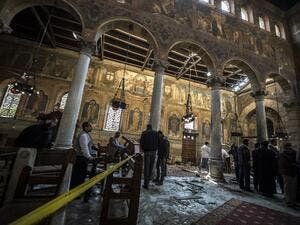 The site of a previous bombing at a church in Egypt. (AFP/File)
