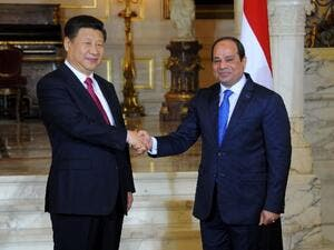 Chinese President Xi Jinping (left) held talks with Egypt's President Abdel Fattah al-Sisi. (AFP/ File Photo)