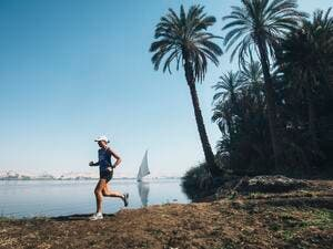 Ultra-runner Mina Guli ran 40 marathons in 40 days on six continents as part of a UN initiative to raise awareness about water consumption.  (Twitter/Mina Guli)