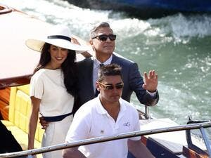 In 2014, George led a parade of boats down the Grand Canal ahead of his wedding to international human rights lawyer Amal, 38. (File photo)