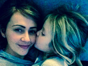 Samia with her six-year old Freya, her only child with ex-husband Matt Smith. (Instagram/Samia Ghadie)