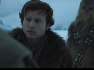 Alden Ehrenreich stars as Han Solo. /Youtube