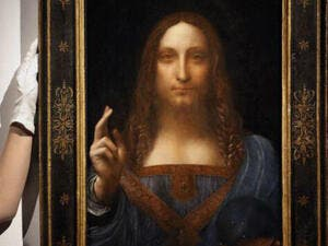 Leonardo Da Vinci's Salvator Mundi; the world's most expensive painting, is going to be exhibited at Abu Dhabi's Louvre. (Source: twitter - @Louvre Abu Dhabi)