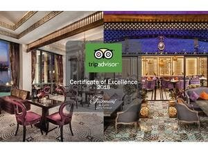 Fairmont Nile City Certificate of Excellence.