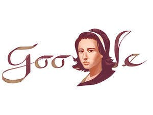 Google marks what would have been the 85th birthday of the late 'lady of the Arabic screen.' (Google)
