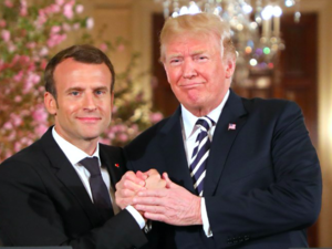 Emmanuel Macron three-day cordial visit to the White House might nearly not be enough to get Trump to change his mind over Iran's nuclear deal which he could end up scrapping by 12 May. Ludovic Marin/AFP