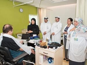 This afternoon Her Excellency Dr. Hanan Mohammed Al Kuwari, Minister of Public Health, visited patients and staff at HMC's Enaya Specialized Care Center.