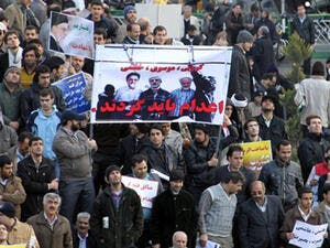 Iranian government supporters have previously called for the execution of Mousavi and Karroubi [AFP]