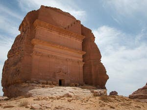 Nabatean tomb in Madain Saleh archeological site, Saudi Arabia (Shutterstock/File Photo)