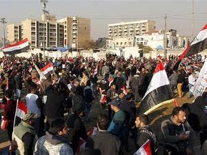 Iraqi protests against alleged electoral fraud during the first vote since the defeat of Islamic State militants. (AFP/ File Photo)