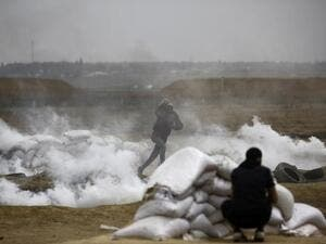 Israeli army fire left 206 Palestinian injured near Gaza Strip. (AFP/ File Photo)