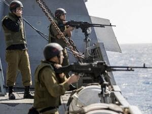 Israeli naval forces prevent Palestinian 40-boat flotilla from breaking Gaza Siege. (AFP / JACK GUEZ)