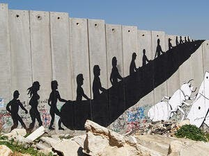 The separation wall in the West Bank. (AFP)