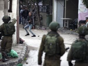 Israeli forces clash with Palestinian youths in the north of the occupied West Bank. (AFP/ File)