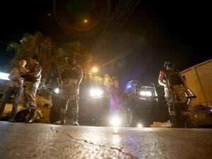 A Jordanian was killed, and another was injured along with an Israeli man on Sunday in a shooting incident at the Israeli embassy in Amman (Khalil Mazraawi/AFP)