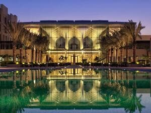 The hotel is located in the Al Mouj area of the city.