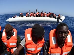 Thousands of Africans have been rescued from sinking vessels in the Mediterranean Sea in 2016. (AFP/File)