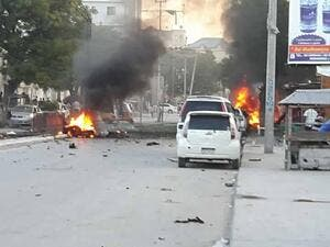 Explosive-laden car in Mogadishu (Twitter)