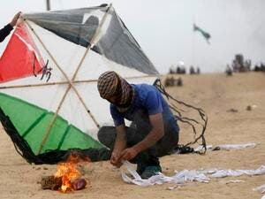 Hamas,claim Israel has exaggerated incendiary kite thread ((Twitter)