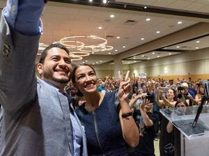 Abdul Sayed, the first Egyptian-American Muslim to run as governor for Michigan in 2018 with Alexandria Ocasio-Cortez. (@AbdulElSayed/Twitter)