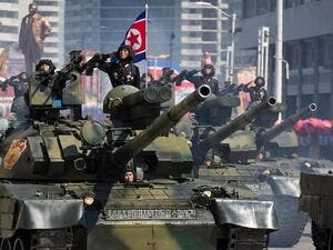 Military parade in N.Korea (Twitter)