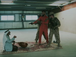 "Screenshot from the video of ""This Is Iraq"" for the Iraqi rapper, I-NZ. (YouTube)"
