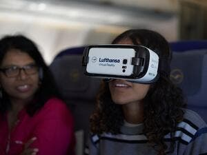 Lufthansa's new In-flight VR prototype.