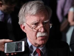 National Security Adviser John Bolton speaks to the media before the arrival of President Donald Trump during a rally at Florida International University in Miami, Florida. (AFP/ File)