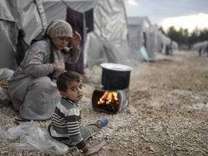 Syrian refugees families who came from Kobani district living in refugees tent in Suruc district. (Shutterstock/ File Photo)