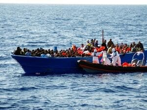 A file photo of a Mediterranean Sea rescue earlier in 2016. (AFP/File)