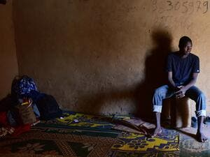 A migrant from West Africa waits in Niger before setting out for Europe via Libya. (AFP/Issouf Sanogo)