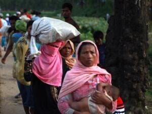Since Aug. 25, over 625,000 Rohingya have crossed from Myanmar's western state of Rakhine into Bangladesh (AFP)