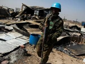 A UN peacekeeper in South Sudan. (Photo/AFP)