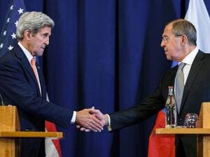 US Secretary of State John Kerry (L) and Russian Foreign Minister Sergei Lavrov. (AFP/File)