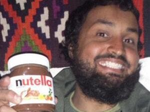The British man posted a photograph of himself holding a jar of the popular hazel and chocolate spread in a bid to taunt the West about the 'five star' lifestyle of militants in Syria. (Courtesy photo)