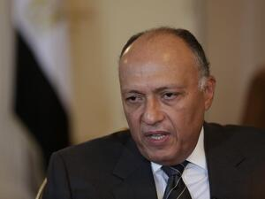 Al-Shoukry's meeting with Netanyahu is to be the first visit by an Egyptian foreign minister to the state of Israel since 2007. (Twitter)