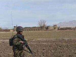 An Afghan National Army soldier on patrol in the Paktika region. (AFP/File)