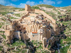 Mar Saba monastery near Bethlehem is one of 13 sites in Palestine to be considered for the UNESCO World Heritage list. (Shutterstock)