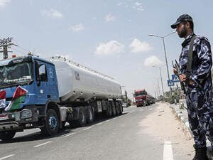 Egypt began to deliver a million litres of fuel to Gaza, in an attempt to ease the Palestinian enclave's desperate electricity crisis. (AFP)