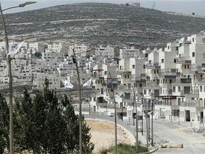 The picture taken on April 14, 2016 shows a partial view of the Israeli settlement of Givat Zeev near the West Bank city of Ramallah. (AFP)