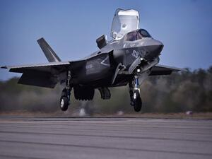The Marines' F-35B, pictured, is capable of conducting short takeoffs and vertical landings. (AFP /JEFF J MITCHELL)