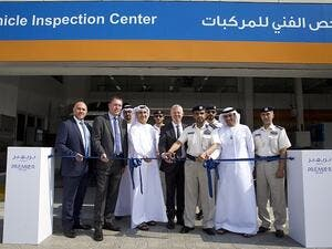 Senior officials from Premier Motors, Al Tayer Motors, ADNOC, Abu Dhabi and Police inaugurated the Vehicle Inspection Centre (VIC)